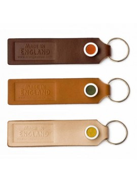 Different Browns Leather Keyring